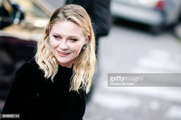 Kirsten Dunst is seen outside the Vogue Foundation Dinner during Paris Fashion Week Haute Couture Fall/Winter 20172018 on July 4 2017 in Paris France