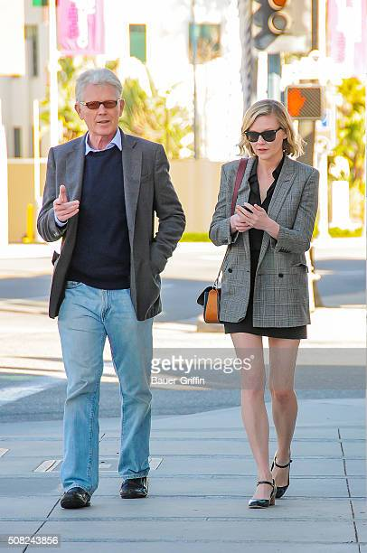 Kirsten Dunst is seen with her father Klaus Dunst in Beverly Hills on February 03 2016 in Los Angeles California