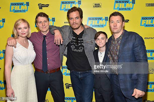Kirsten Dunst Jeff Nichols Michael Shannon Jaeden Lieberher and Joel Edgerton attend the screening of 'Midnight Special' during the 2016 SXSW Music...