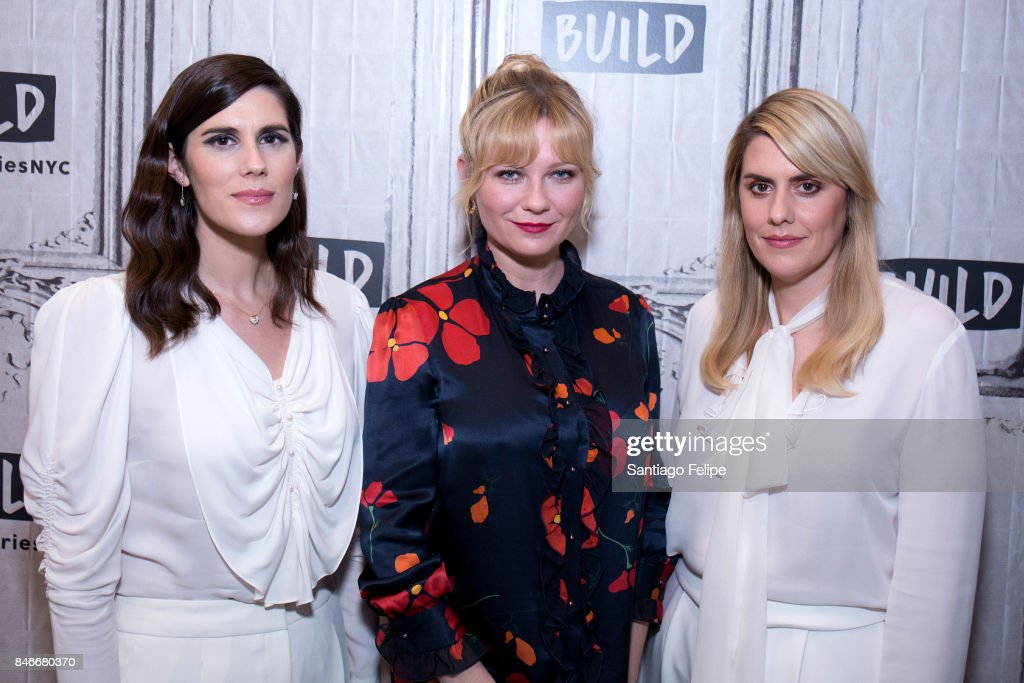 Kirsten Dunst (C), Laura and Kate Mulleavy attend Build Presents to discuss 'Woodshock' at Build Studio on September 13, 2017 in New York City.