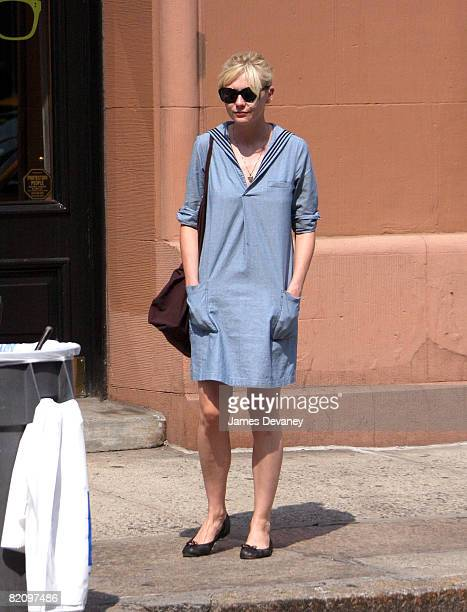 Kirsten Dunst seen on the streets of Manhattan on July 28 2008 in New York City