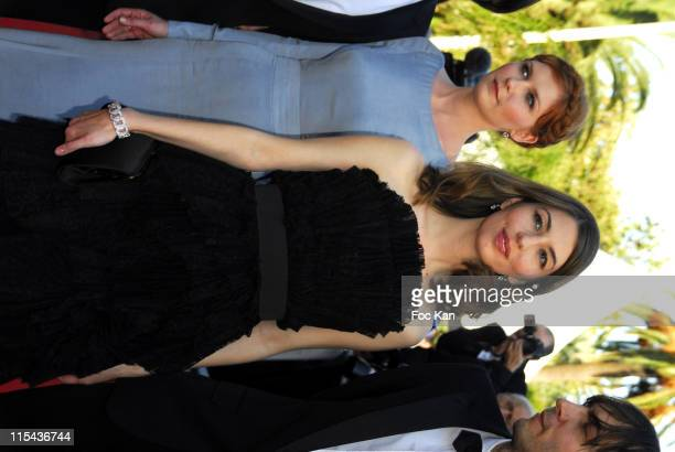Kirsten Dunst Sofia Coppola and Thomas Mars during 2006 Cannes Film Festival 'Marie Antoinette' Premiere at Palais des Festival in Cannes France