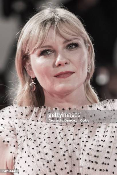 Kirsten Dunst walks the red carpet ahead of the 'TWoodshock' screening during the 74th Venice Film Festival at Sala Giardino on September 4 2017 in...