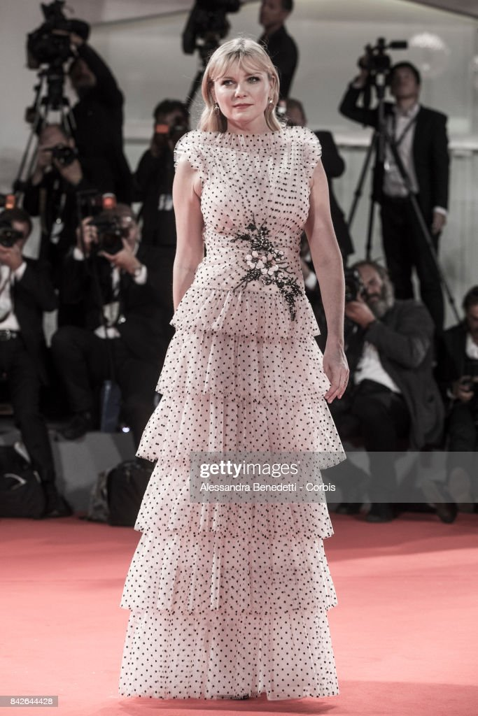 Kirsten Dunst walks the red carpet ahead of the 'TWoodshock' screening during the 74th Venice Film Festival at Sala Giardino on September 4, 2017 in Venice, Italy.