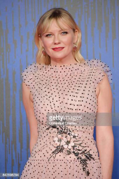 Kirsten Dunst walks the red carpet ahead of the 'Woodshock' screening during the 74th Venice Film Festival at Sala Giardino on September 4 2017 in...