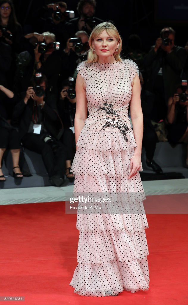 Kirsten Dunst walks the red carpet ahead of the 'Woodshock' screening during the 74th Venice Film Festival at Sala Giardino on September 4, 2017 in Venice, Italy.