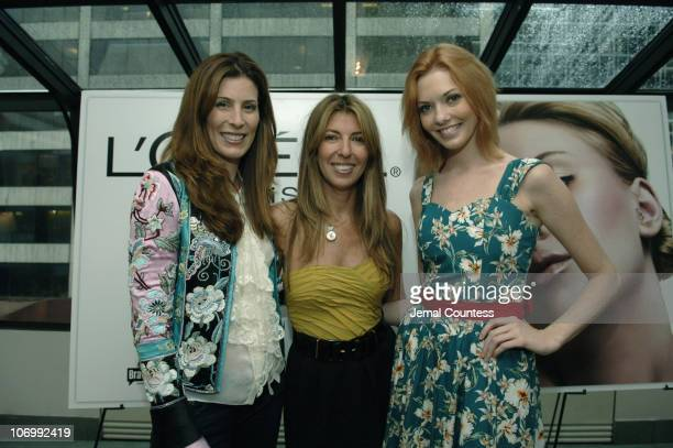 Kirsten Ehrig Nina Garcia and Amanda Fields during Elle Magazine and L'Oreal Paris Host the 'Get Runway Ready' Beauty Suite in Celebration of the...