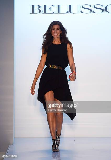 Kirsten Ehrig Sarkisian walks the runway during Belusso show at MercedesBenz Fashion Week Swim 2015 at Oasis at The Raleigh on July 20 2014 in Miami...