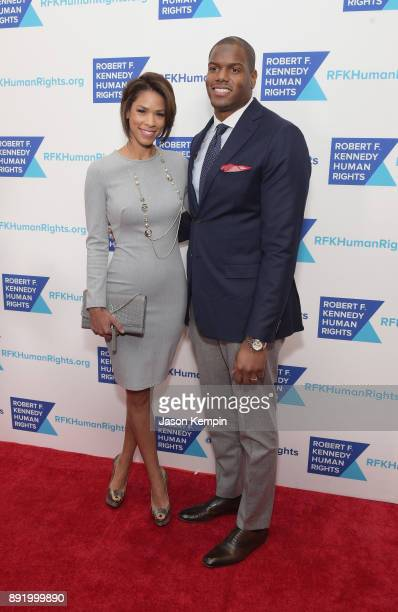 Kirsten Ferguson and D'Brickshaw Ferguson and guest attends Robert F Kennedy Human Rights Hosts Annual Ripple Of Hope Awards Dinner on December 13...