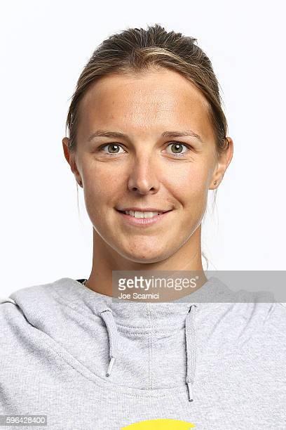 Kirsten Flipkens of Belgium poses for a WTA Portrait at Arthur Ashe Stadium on August 26 2016 in New York City