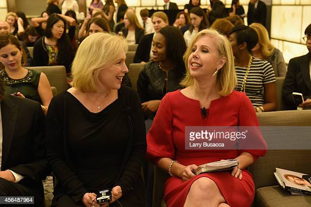 Kirsten Gillibrand and Nancy Gibbs attend the TIME and Real Simple's Women & Success event at the Park Hyatt on October 1, 2014 in New York City.