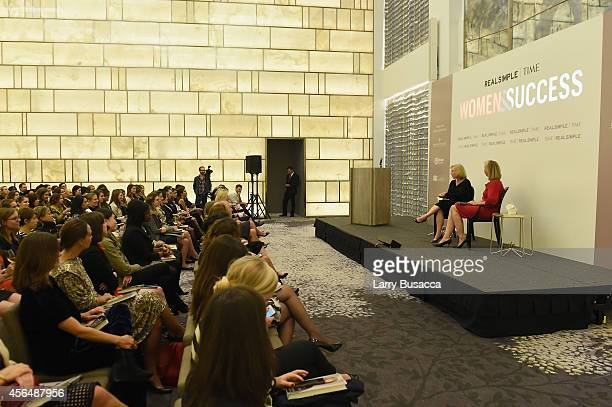 Kirsten Gillibrand and Nancy Gibbs speak at the TIME and Real Simple's Women & Success event at the Park Hyatt on October 1, 2014 in New York City.