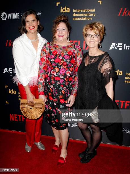 Kirsten Johnson Abigail Disney and Gini Reticker at the 33rd Annual IDA Documentary Awards at Paramount Theatre on December 9 2017 in Los Angeles...