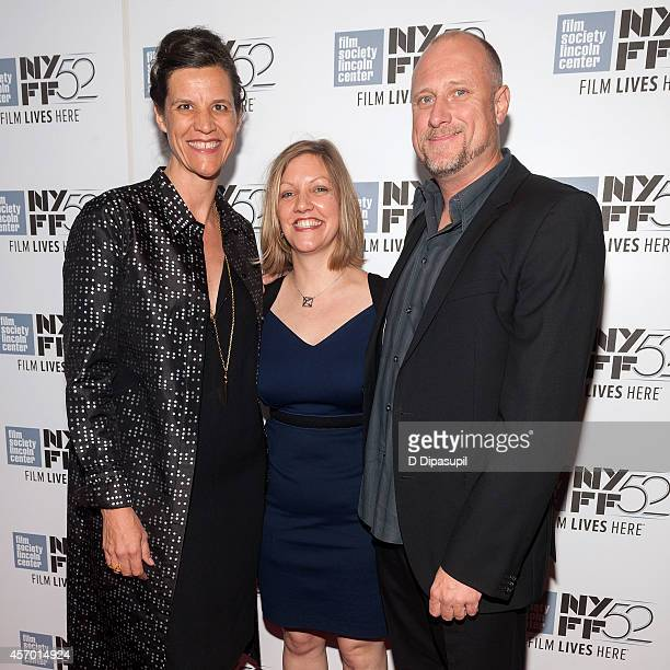 Kirsten Johnson Katy Scoggin and Trevor Paglen attend the Citizenfour premiere during the 52nd New York Film Festival at Alice Tully Hall on October...