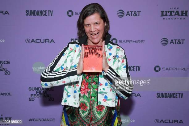 Kirsten Johnson of Dick Johnson Is Dead speaks onstage during the 2020 Sundance Film Festival Awards Night Ceremony at Basin Recreation Field House...