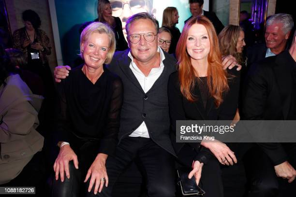 Kirsten Kastalio Oliver Kastalio and Esther Schweins during the Rodenstock Eyewear Show 'A New Vision of Style' at Isarforum on January 24 2019 in...