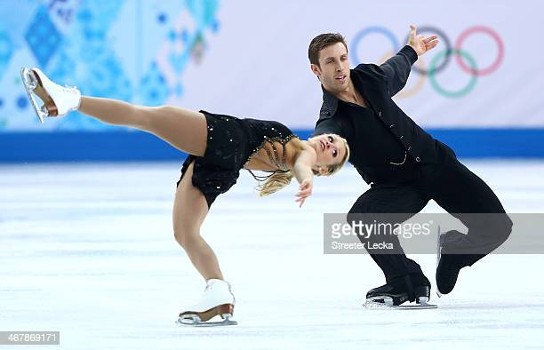 Kirsten MooreTowers and Dylan Moscovitch of Canada compete in the Figure Skating Team Pairs Free Skating during day one of the Sochi 2014 Winter...