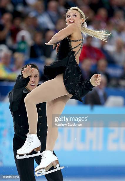 Kirsten MooreTowers and Dylan Moscovitch of Canada compete in the Figure Skating Pairs Free Skating during day five of the 2014 Sochi Olympics at...