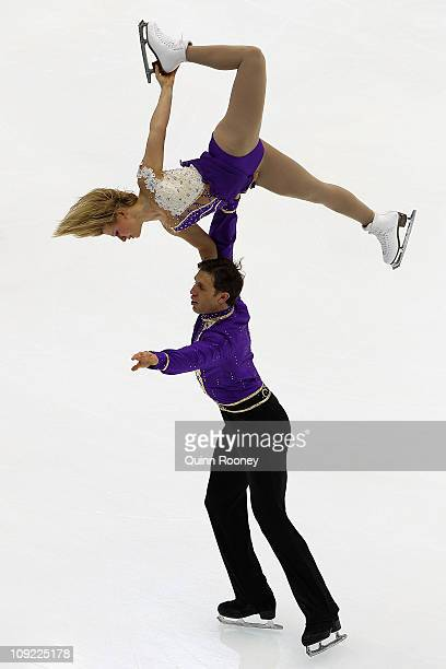 Kirsten MooreTowers and Dylan Moscovitch of Canada skate in the Pairs Short Program during day one of the Four Continents Figure Skating...