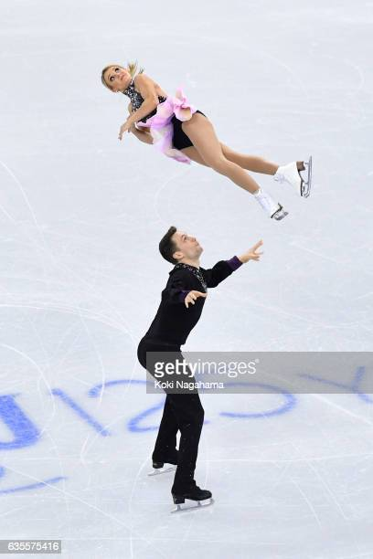 Kirsten Moore-Towers and Michael Marinaro of Canada compete in the Pairs Short Program during ISU Four Continents Figure Skating Championships -...