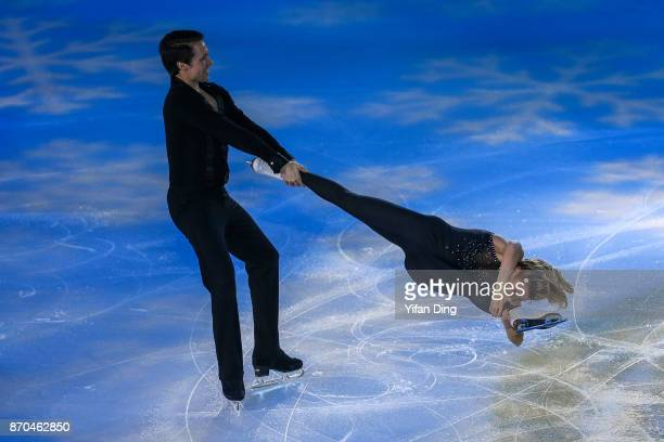 Kirsten MooreTowers and Michael Marinaro of Canada perform during exhibition program of Audi Cup of China ISU Grand Prix of Figure Skating 2017 at...