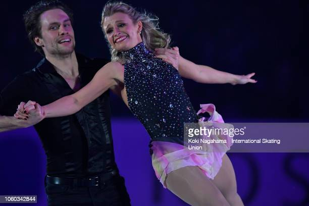 Kirsten MooreTowers and Michael Marinaro of Canada perform in the Gala Exhibition during day three of the ISU Grand Prix of Figure Skating NHK Trophy...