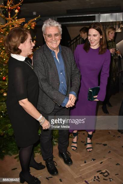 Kirsten Niehuus Henry Huebchen and Antje Traue during the Medienboard PreChristmas Party at Schwuz at Saeaelchen on December 7 2017 in Berlin Germany