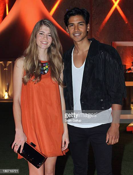 Kirsten Ringelmann and actor Jan Uddin attend Shisha Nights 3 during day 4 of the 2011 Doha Tribeca Film Festival at Fesitival Lounge on October 28...