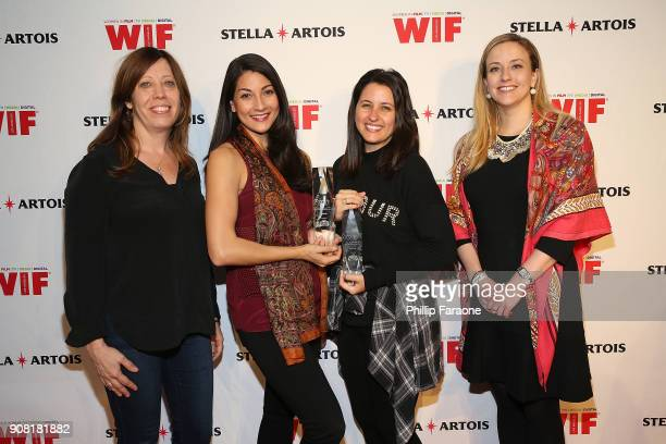 Kirsten Schaffer Andrea Savo Florencia Krochik and Carolyn Zwiener joined Stella Artois and Women In Film for a live round table discussion...