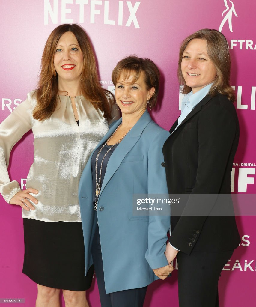 Kirsten Schaffer, Gabrielle Carteris and Netflix VP of Original Content Cindy Holland attend the Netflix - 'Rebels and Rules Breakers' for your consideration event held at Netflix FYSee Space on May 12, 2018 in Beverly Hills, California.