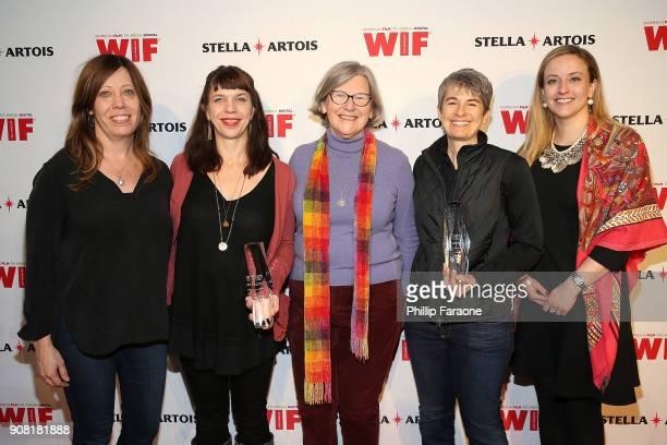 Kirsten Schaffer Sara Archambault Sister Simone Campbell Melissa Regan and Carolyn Zwiener join Stella Artois and Women In Film for a live round...