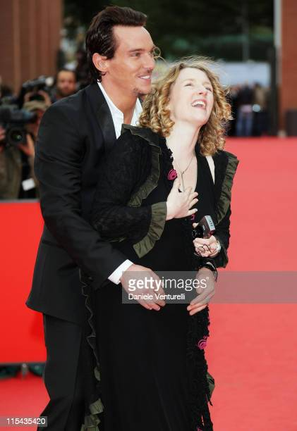 Kirsten Sheridan director and Jonathan Rhys Meyers attend the 'August Rush' premiere during Day 3 of the 2nd Rome Film Festival on October 20 2007 in...