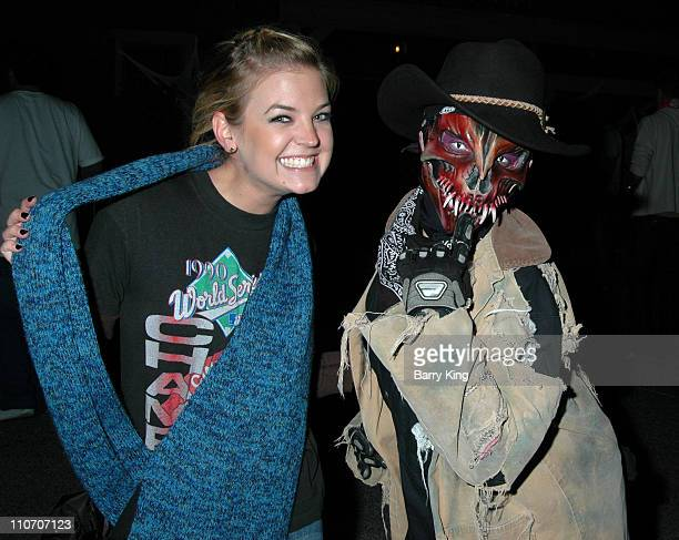 Kirsten Storms during Kristen Storms and Alexis Thorpe Visit Knott's Scary Farm's Halloween Haunt on Friday the 13th at Knott's Berry Farm in Buena...