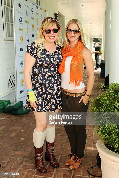 Kirsten Vangsness and AJ Cook attend LA Loves Alex's Lemonade At Culver Studios at Culver Studios on September 29 2012 in Culver City California