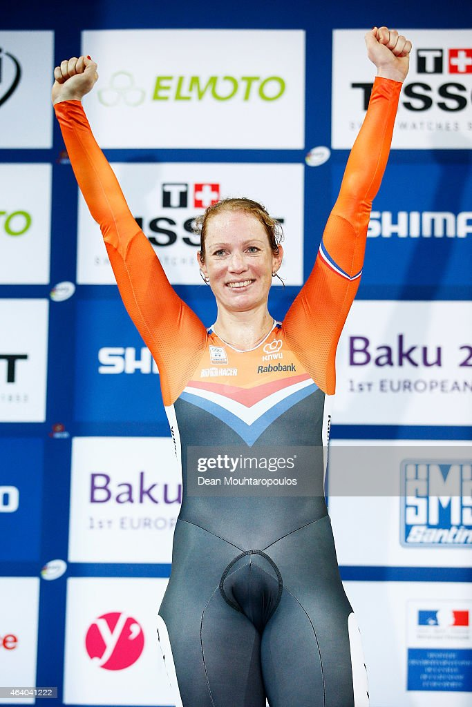 Kirsten Wild of the Netherlands Cycling Team celebrates on ...