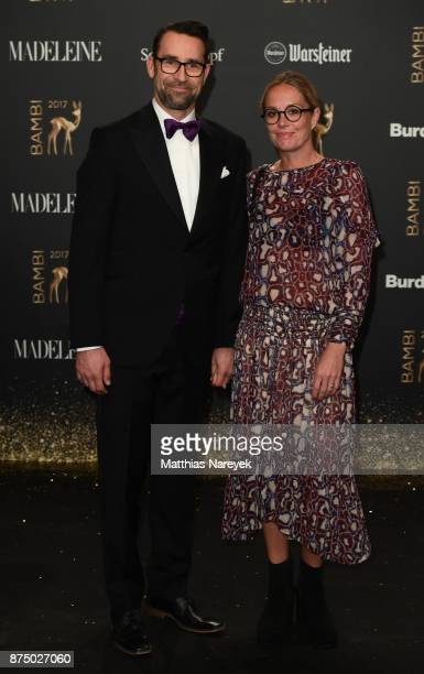 Kirsten Zophy and Michael Preetz arrive at the Bambi Awards 2017 at Stage Theater on November 16 2017 in Berlin Germany