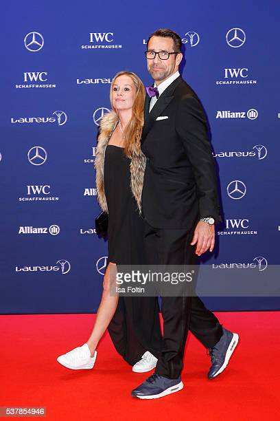 Kirsten Zophy and Michael Preetz attend the Laureus World Sports Awards 2016 on April 18 2016 in Berlin Germany