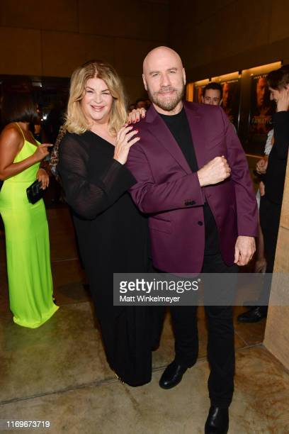 Kirstie Alley and John Travolta attend the premiere of Quiver Distribution's The Fanatic at the Egyptian Theatre on August 22 2019 in Hollywood...