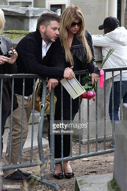Kirstie Alley and Serge Onik are sighted near singer Jim Morrison's grave at the 'Pere Lachaise' cemetery on October 19 2011 in Paris France