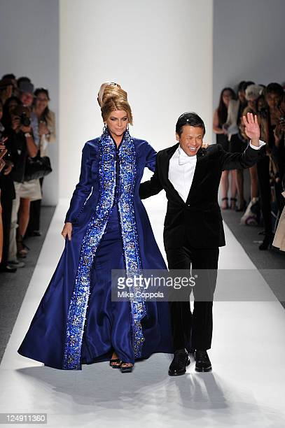 Kirstie Alley and Zang Toi walk the runway at the Zang Toi Spring 2012 fashion show during MercedesBenz Fashion Week Spring 2012 at Lincoln Center on...