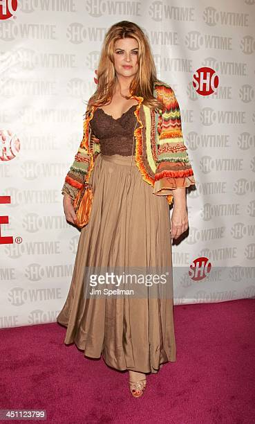 Kirstie Alley during Fat Actress Showtime Network's New York City Premiere Red Carpet at Clearview Chelsea West Cinemas in New York City New York...