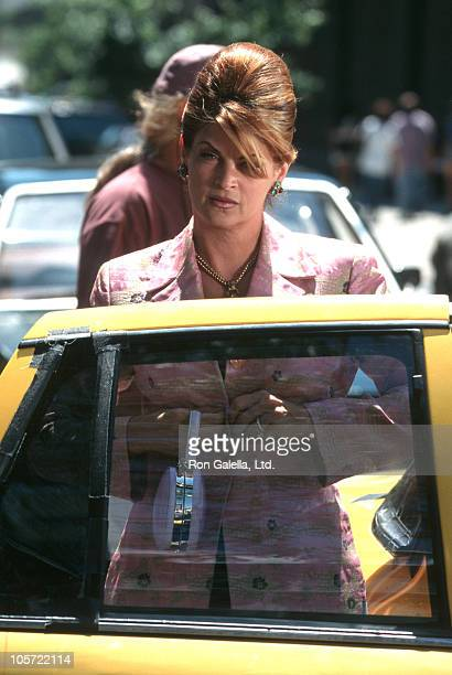 Kirstie Alley during Filming of 'For Richer or Poorer' July 10 1997 at Broadway and Broome Street in New York City New York United States