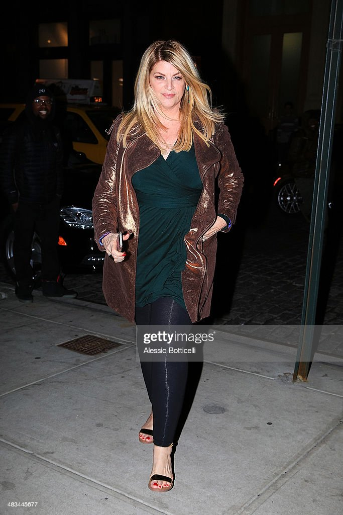 Kirstie Alley is seen arriving at her hotel on April 8, 2014 in New York City.