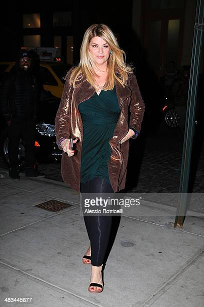 Kirstie Alley is seen arriving at her hotel on April 8 2014 in New York City