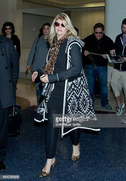 Kirstie Alley is seen arriving at LAX airport on December 7 2013 in Los Angeles California