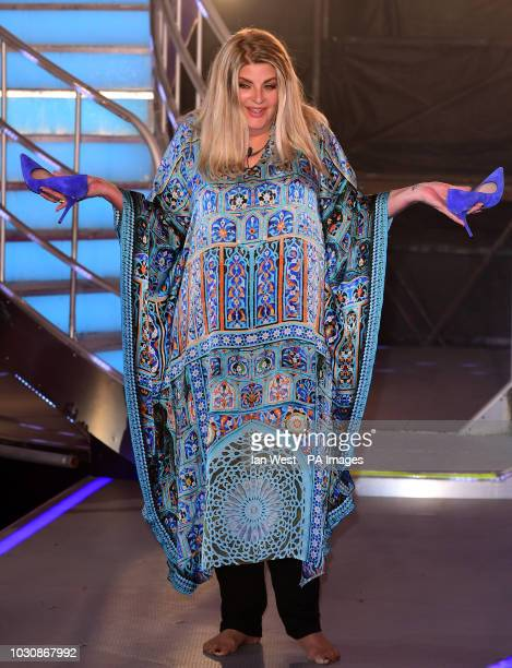 Kirstie Alley leaves the house after finishing in second place during the live final of Celebrity Big Brother at Elstree Studios Hertfordshire