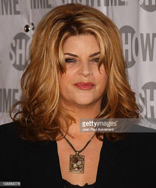 Kirstie Alley of 'Fat Actress' during Showtime TCA Press Tour Party Arrivals at Universal Studios Stage 6 in Universal City California United States