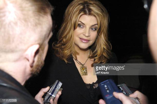 Kirstie Alley of 'Fat Actress' during Showtime TCA Press Tour Party Inside at Universal Studios in Universal City California United States