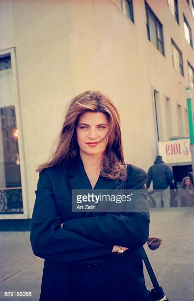 Kirstie Alley on the street circa 1990 New York