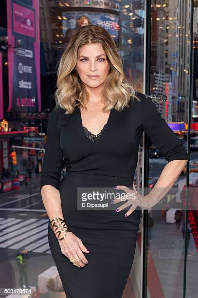 Kirstie Alley visits 'Extra' at their New York studios at HM in Times Square on January 5 2016 in New York City